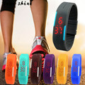 snowshine 10 New Ultra Thin Men Girl Sports Silicone Digital LED Sports Wrist Watch free