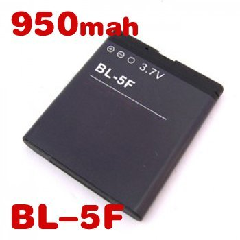 Freeshipping BL-5F battery 10PCS 500mah/6290/E65/N93i/6210/N96/6210S/6710N/N95/N98/N99  mobile phonebattery