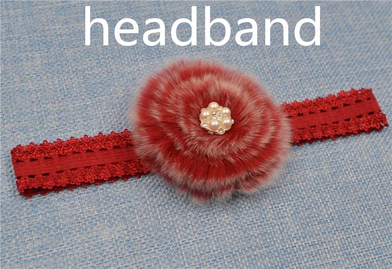 Cute Baby Fur Headband 100% marten hairband Infant Girl Hair Accessories Elegant FUR ball Headband Newborn Photography Prop(China (Mainland))