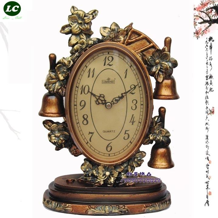 free shipping desk clock Fashion creative clock bedside clock antique European rural table clock(China (Mainland))