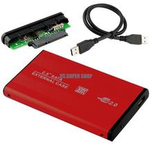 Red HDD Hard Drive Disk Mobile External Enclosure Box Case 2.5″ SATA USB 2.0 EL5018