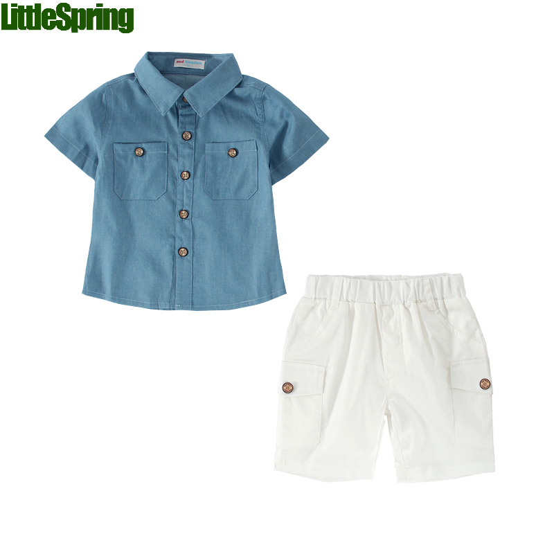 2016 New baby boys set toddler suit short sleeve casual baby clothing set summer clothing outfits children's set(China (Mainland))
