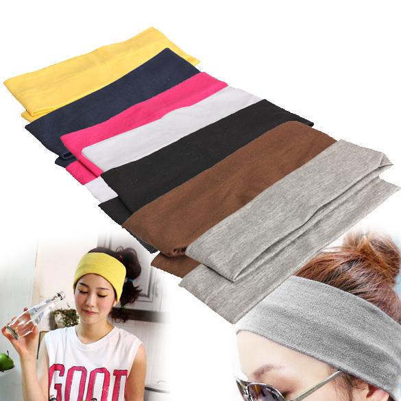 Yoga Train Hair Strap 2Pcs Women Yoga Fitness Running Cotton Elastic Headband Hair Strap SL(China (Mainland))