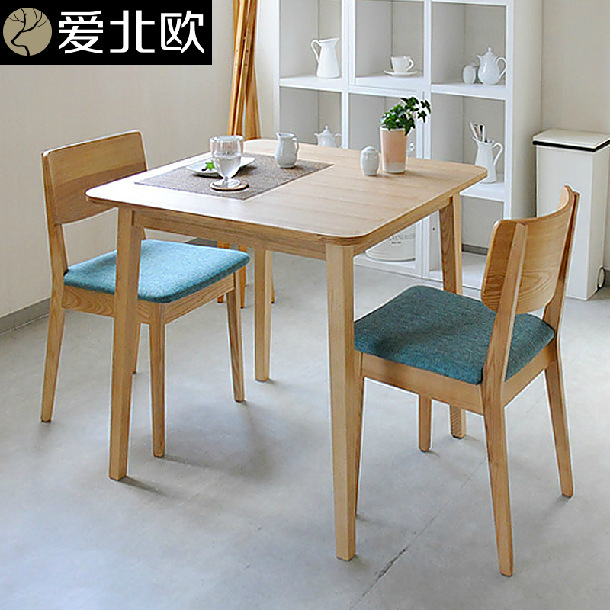 Small Family Dining Table And Chairs Modern Simple Solid Wood Dining