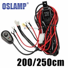 Cable Lines Offroad LED Driving Light Bar 12V 40A Extention Wire Relay Fog Lamp Wiring Loom Harness Kit Fuse Power Off 4x4 4WD(China (Mainland))