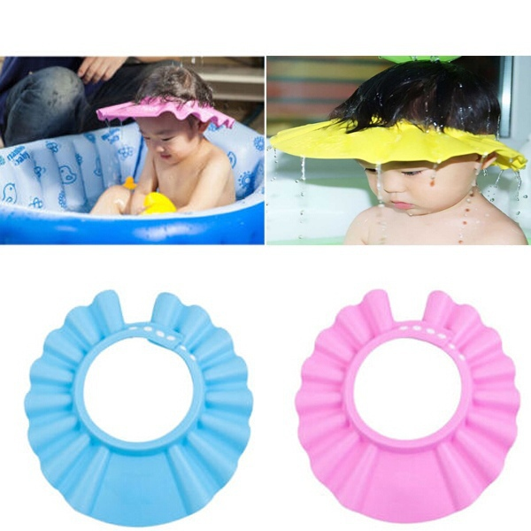 2014 Hot Adjustable Baby Kids Children Shower Bath Cap Shampoo Waterproof Hat Sun Visor 40g/pc - New*Star Hair store