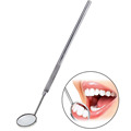 Mini Oral Teeth Magnify Mouth Mirror Inspect Instrument Auto Dentist Glimpse Mouth With Solid Handle Oral