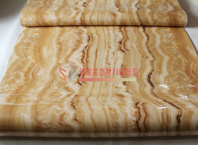 2015 sale wall paper wallpaper wavy thick self-adhesive jade imitation marble countertops cabinets diy renovation waterproof