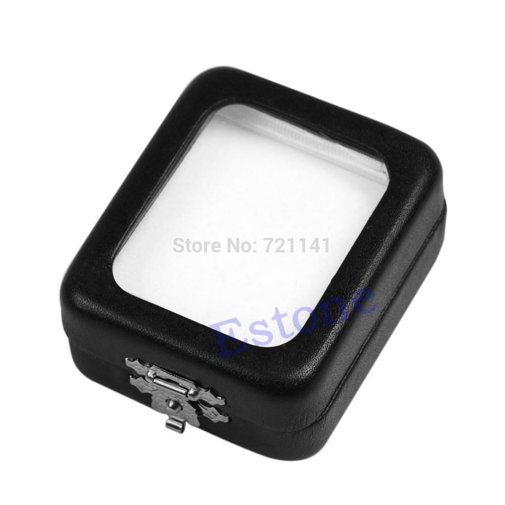 J34 Free Shipping Fashion Practical Design Jewelry Pendant Package Gift Box Necklace Case Bag Black(China (Mainland))