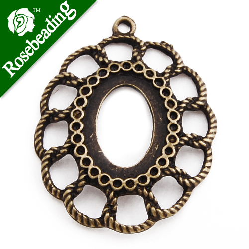 13*18MM Antique Bronze Plated Oval Zinc Alloy Pendant trays,blanks for jewelry; cabochon bezel settings,sold 20pcs per pkg
