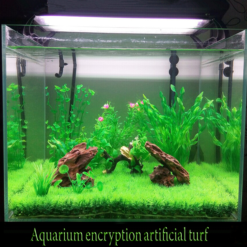 Pets At Home Aquarium Plants : Artificial Lawn Turf Grass plants for aquarium decorations Micro Small ...
