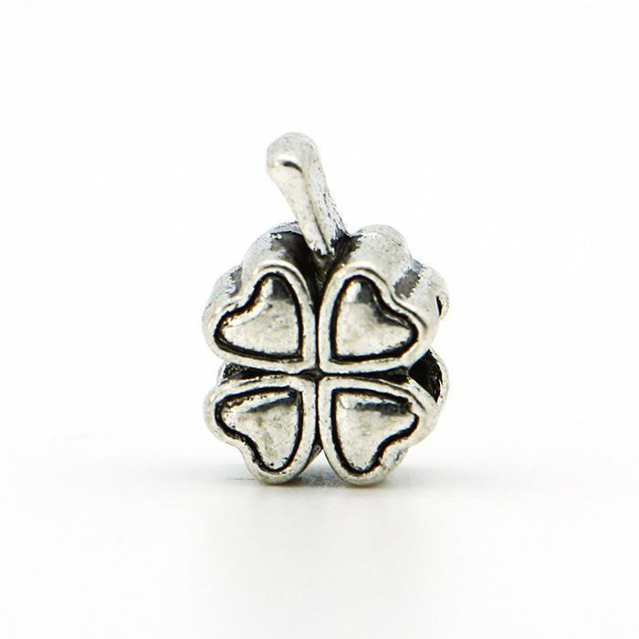 1piece 925 Silver High quality Clover DIY Bead big hole European Beads Fits Silver Charm pandora Bracelets necklaces pendants
