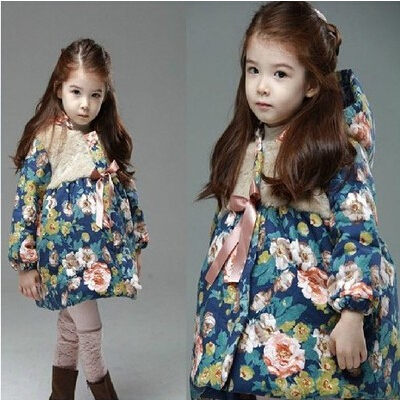 kids winter coats jackets girls fur coat cardigan baby clothing tops children sweatershirts outwear flower plus size 2015 new - Lucky Dog's House store