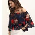 New Blusas 2016 Autumn Women Blouses Plus Size blusas y camisas mujer Sexy printing chiffon Blouse