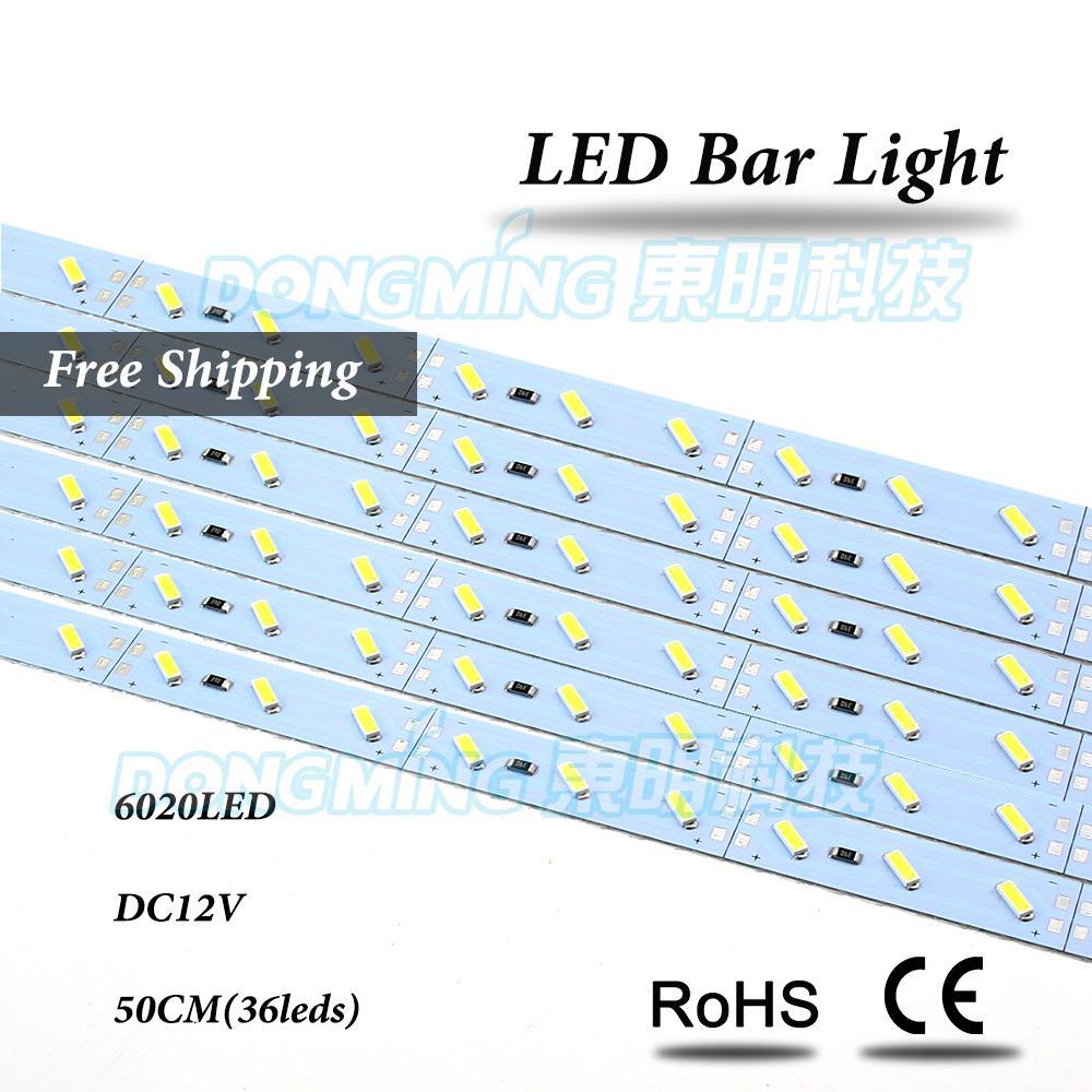 5pcs no waterproof PCB white/warm white 6020 led hard light 12V led strip bar 50cm 36led<br><br>Aliexpress