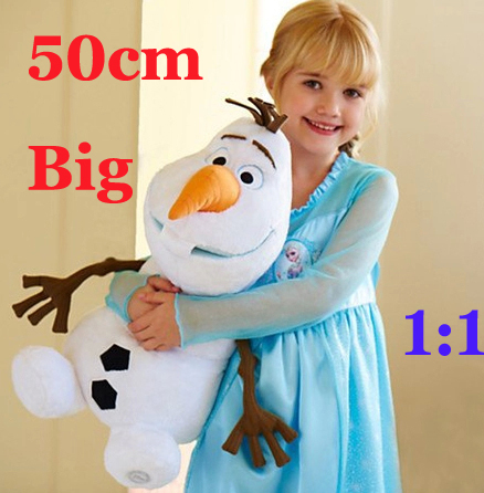 50CM Big Size Olaf Snowman Movie Plush Dolls & Accessories 1:1 In-Stock Items Freeshipping(China (Mainland))