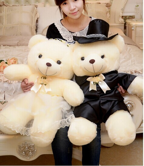 large 80cm loves teddy bear plush toys ,wedding bears ,proposal ,wedding gift t6039(China (Mainland))