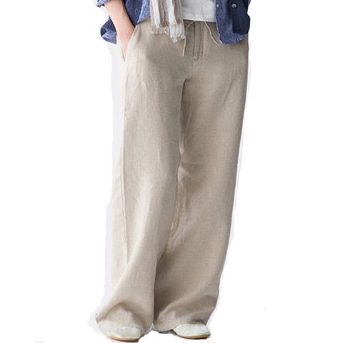 Cotton Summer Summer Leisure Cotton Trousers