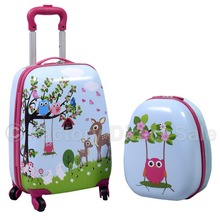 Hard Shell 2 Piece Kids Luggage Set Trolley Case & Backpack(China (Mainland))