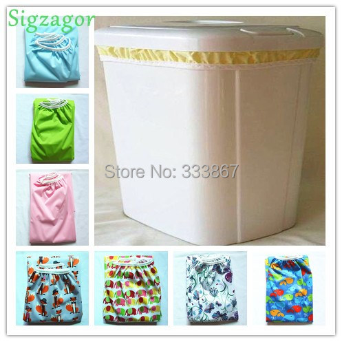 [Sigzagor] 1 Pail Liner for Cloth Diaper Nappy Insert PUL Large Wet Bag Elastic Washable Reusable Washable 9 Choices 70cmx75cm