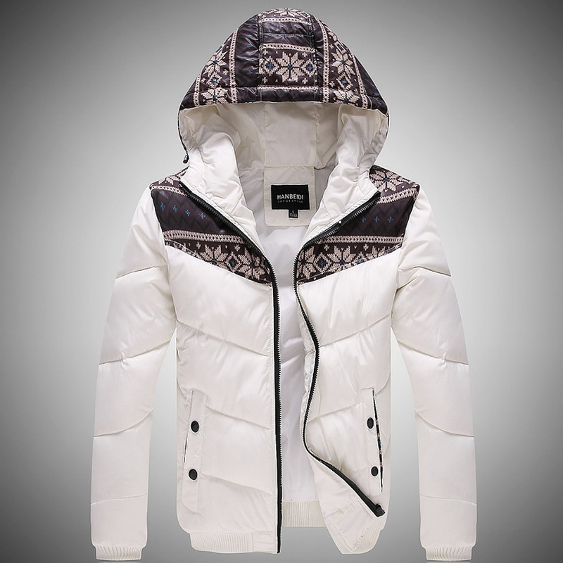 P110 2014 male hood white wadded jacket cotton-padded winter clothes three-color - A Roy's store
