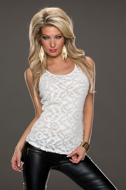 R7929 Ohyeah brand wholesale and retail fashion clothing sexy club wear black and white lace tops popupar sleeveless topОдежда и ак�е��уары<br><br><br>Aliexpress
