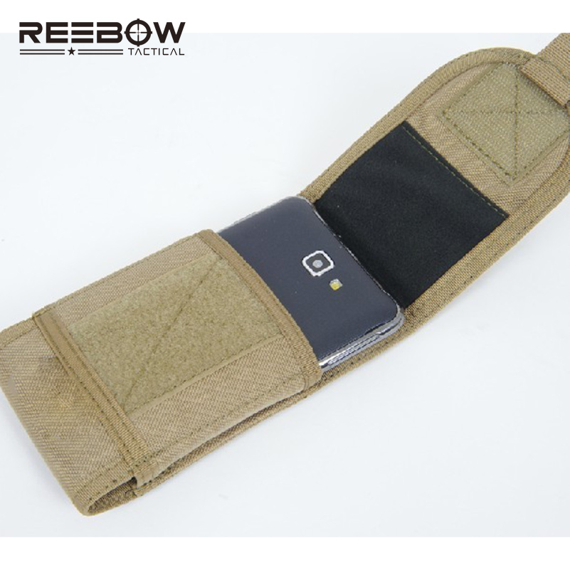 5.5inch Screen Mobile Phone Case 1000D Nylon CORDURA Bags SAMSUNG Galaxy Note 2 3 4 Cell Bag Molle System Waist Pack - REEBOW GEAR store