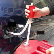Free Shipping + Portable Manual Car Siphon Hose Gas Oil Water Liquid Transfer Hand Pump Sucker Hot #68922(China (Mainland))