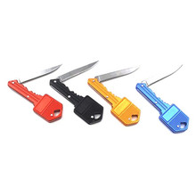 Buy Outdoor Useful Key Knife Keychain Key Shaped Folding Pocket Knife Self Defense for Camping Hiking Picnic Mount Climbing for $1.35 in AliExpress store