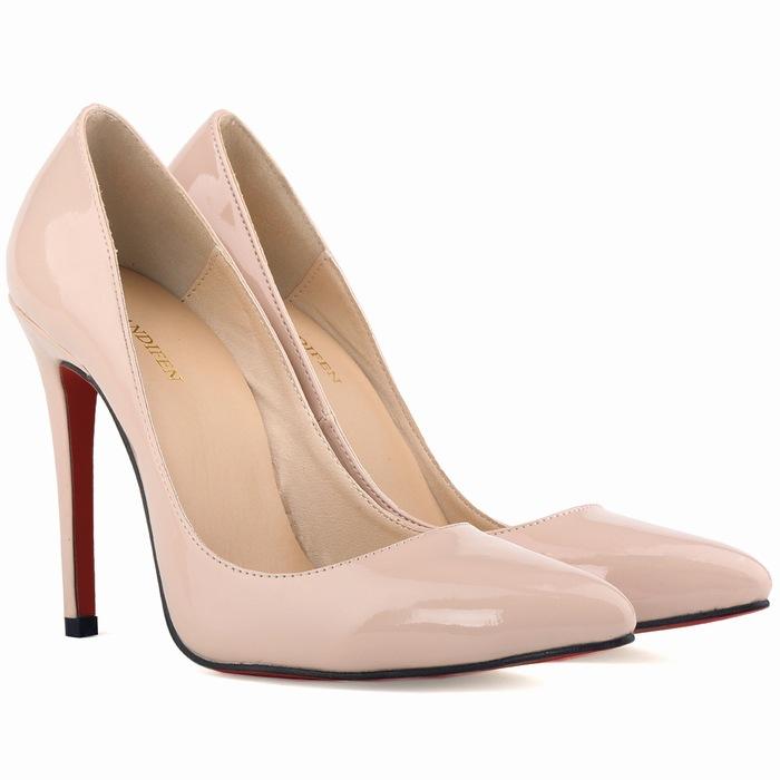 Classic mujeres inferiores rojos de tacones altos 11 cm famosa marca diseño señora moda bombas elegantes zapatos de mujer de la oficina del verano zapatos de fiesta(China (Mainland))