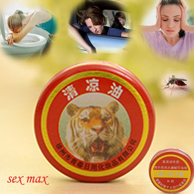 24 Pieces/Lot Tiger Head Essential Balm Oil Refreshing Essential oil Mosquito Elimination Mint Flavor for Summer(China (Mainland))