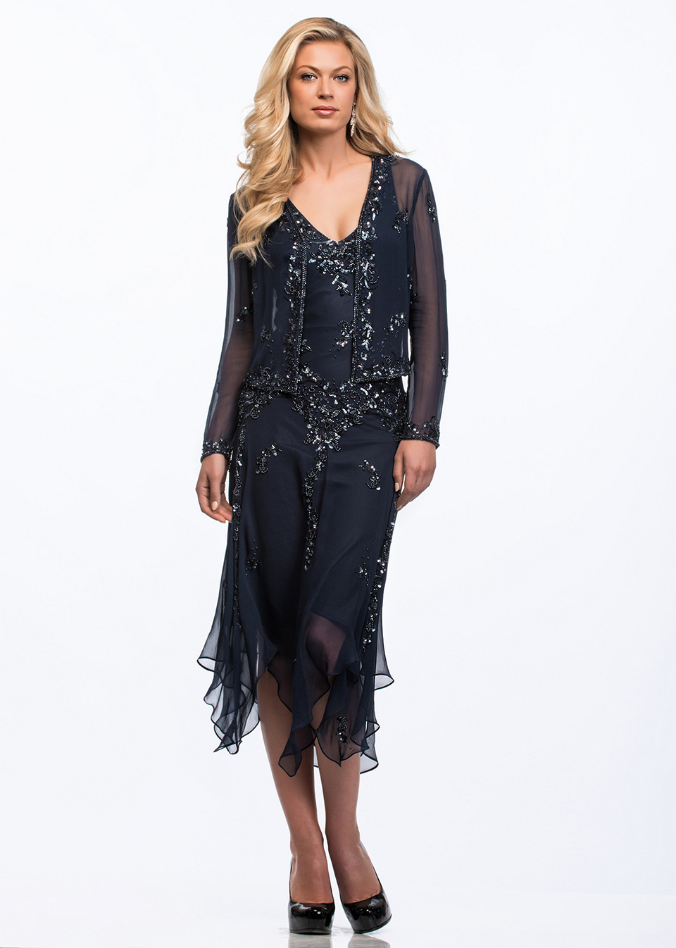 Cocktail Dresses With Handkerchief Hemline 13