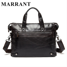 MARRANT Genuine Leather bag Business Men bags Laptop Tote Briefcases Crossbody bags Shoulder Handbag Men's Messenger Bag 9103(China (Mainland))