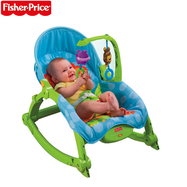 Fisher *price Baby rocking chair toy adjustable chaise multifunction portable electric appease chair vibration swing music(China (Mainland))