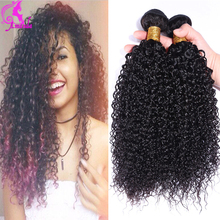 Crochet Braid Hair Brazilian Hair Weave Bundles Kinky Curly Virgin Hair 4 Bundles 7a Unprocessed Curly Weave Human Hair Brown