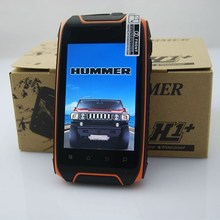 Hummer H1+ 3.54-inch Waterproof Outdoor Sports Amateur Smartphone Dual-core Dual Card 0.3MP+5.0MP Camera Cell Mobile Phone
