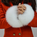 S1492 Women Real fur sleeve cuffs wrist ring warm fashion winter