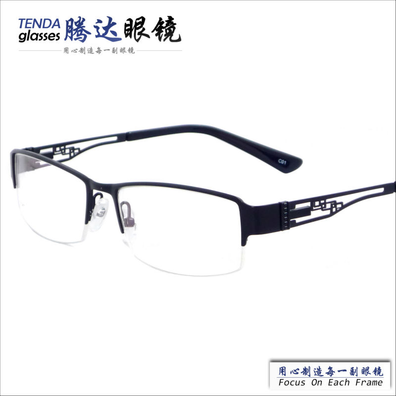 Glasses Frames For Men : Fashion business style half rim metal eyeglasses frames ...