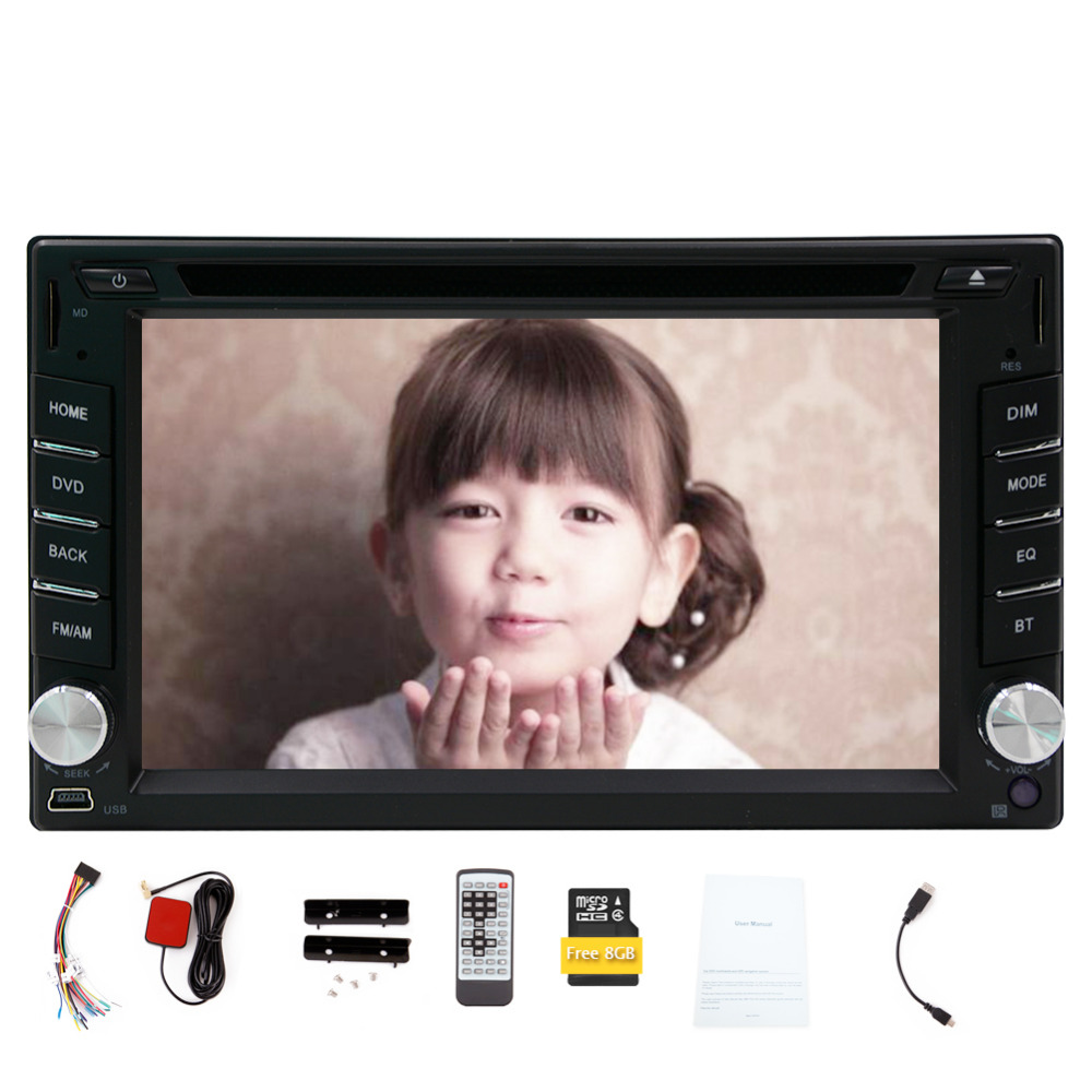 100% 2 Din New Car Radio Double 2 din Car DVD Player GPS Navigation Car Stereo In Dash Car PC Head Unit Video Music Player Free(China (Mainland))