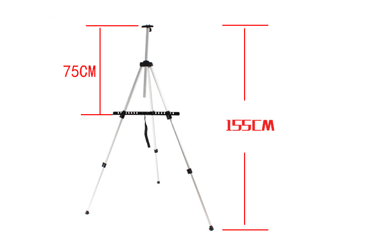 Art Tools Sketch tripod Easel Foldable Easel Display Aluminum Alloy Easel Sketch Drawing Frame For Artist(China (Mainland))
