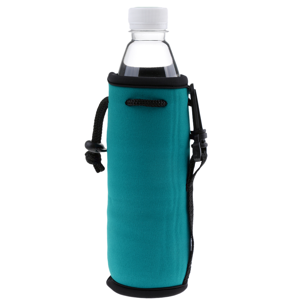 2Pcs Water Bottle Carrier Pouch Insulated Neoprene Water Gym Travel Bottle Holder Bag Protector Sleeve Case Pouch Covers 500ML