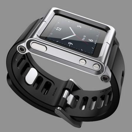 (Silver)Aluminum Band For iPod Nano 6/6th Generation Case(China (Mainland))