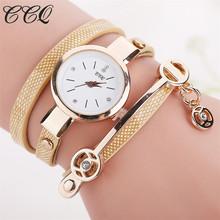 Buy CCQ Brand Fashion Watch Women Leather Bracelet Watch Casual Wristwatch Luxury Rhinestone Quartz Watch Relogio Feminino 1657 for $2.39 in AliExpress store