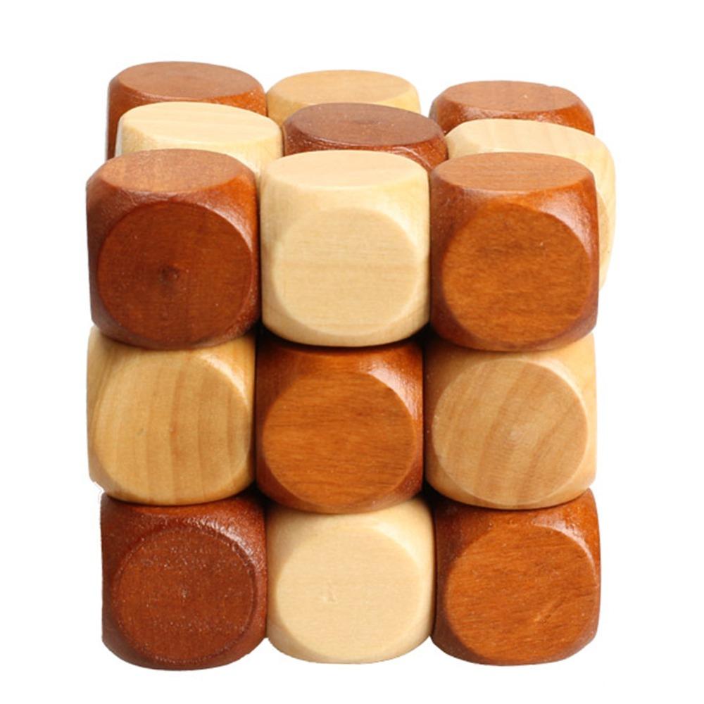 Dragon Tail Style Rubber Wood Adult Children Intelligence Puzzle Lock Toy K5BO(China (Mainland))