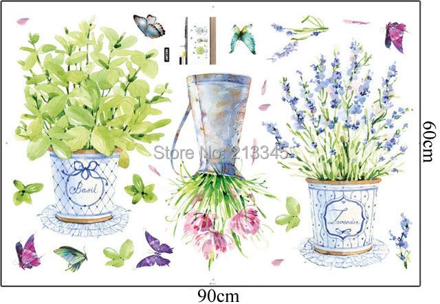 Buy saturday monopoly diy home decor flower pots wall stickers art decals Diy home decor flower vase
