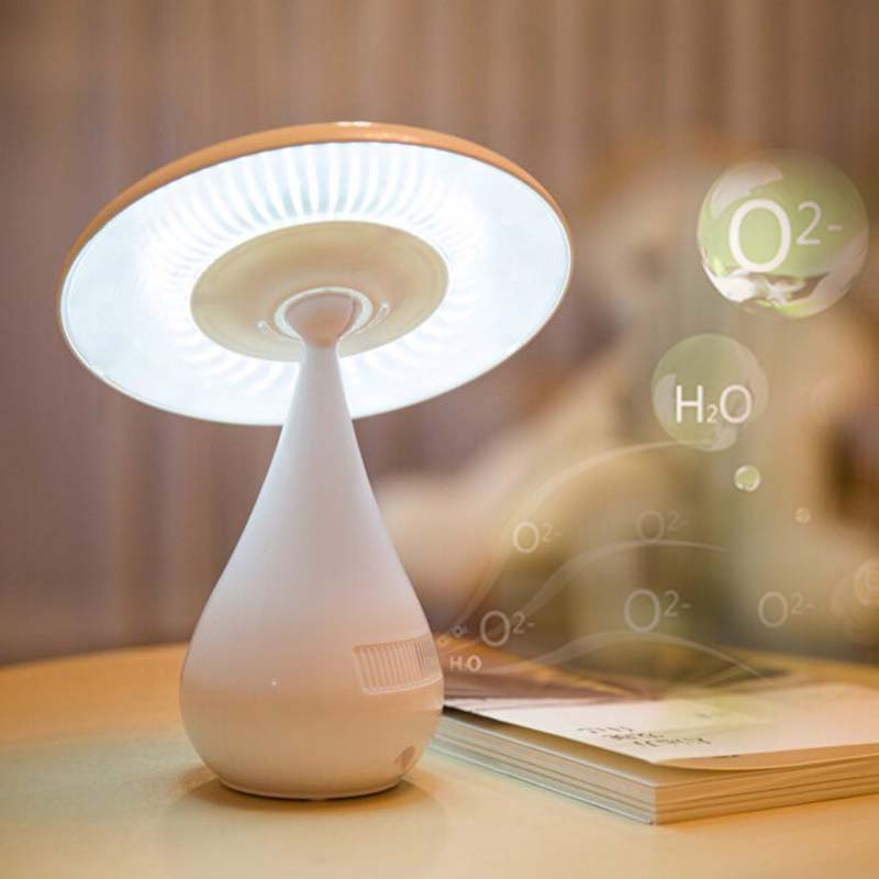 2016 New! Touch Rechargeable USB LED Mushroom Lamp Ionizer Air Anion Purifier Air Cleaner Negative Ion light for Home Greenhouse(China (Mainland))