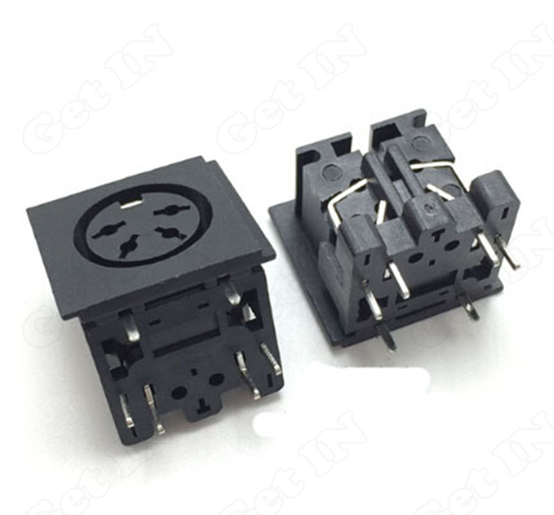 500pcs   PS2-4Pins DIN S Terminal Connectors full Cover PS2 4P Socket 90Degree for Keyboard Mouse<br><br>Aliexpress
