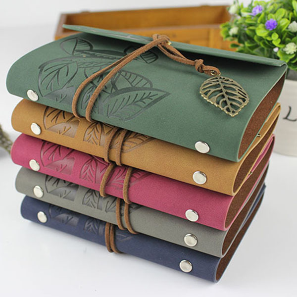 2015 school stationery notebook traveler journal diary leather cover A7 A6 ring binder kraft paper blank sketchbook - office & supplies online store