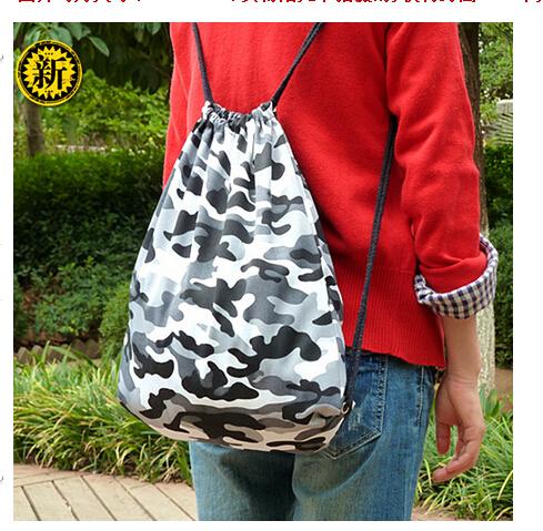 Camouflage color printing bag 36*42 cm /Bag/receive sundry Drawstring Bag / Travel Essentials free shipping(China (Mainland))