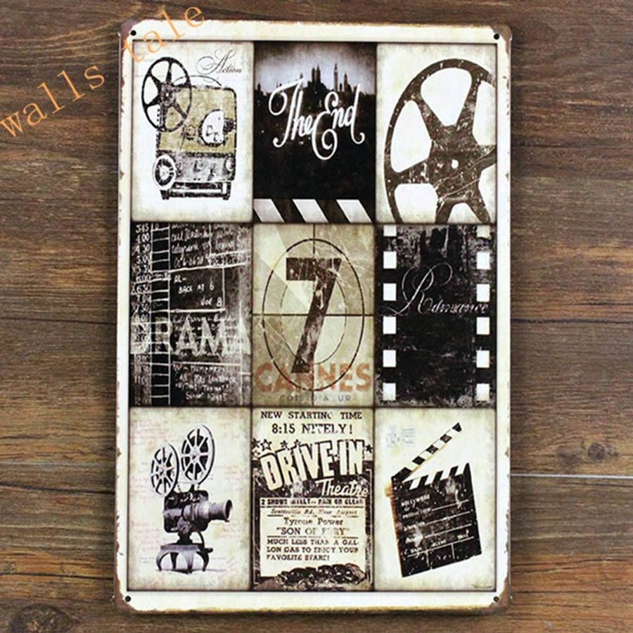 Retro metal tin sign movie poster fit for cinema home for Retro wall art